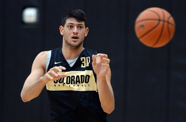 AJ Martinka Colorado Buffaloes Basketball Jersey - Black